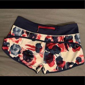 Lululemon Speed Shorts Size 8